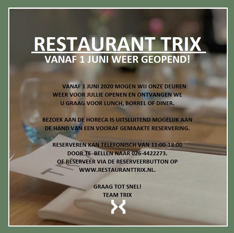 Restaurant Trix Open